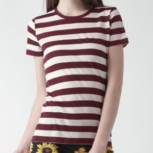 [Forever21] Red and White Stripe Tee